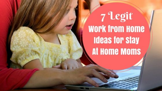 Being a Stay At Home Mom doesn't mean you can't work. Here are some really awesome ideas to work from home and earn extra income in your own time.   #GuestPost #WorkFromHome #EarnExtraIncome #MakeMoneyOnline