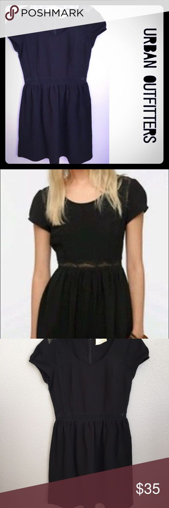 ⭐️24hr sale!!⭐️Urban Outfitters black dress Urban outfitters Pins and Needles women's black dress with lace detail. Super cute!!! The perfect little black dress!! Great to dress up for an event or a night out with your favorite man or your best girls!! Great condition!! Fast shipping!! Bundle and save!! 20% off bundles of 2 or more! Urban Outfitters Dresses Mini