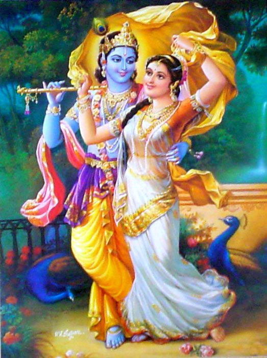 Divine Lovers : Radha Krishna