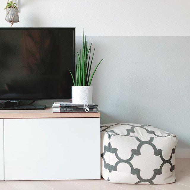 Goedkoop Tv Meubel Ikea.Grijze Lambrisering Tv Meubel Ikea Hack Poef Vtwonen Meubels