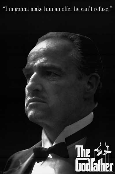 The Godfather Offer Quote Marlon Brando Movie Poster 24x36
