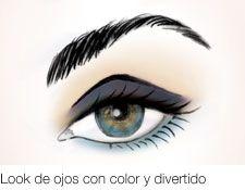 Look de ojos con color y divertido