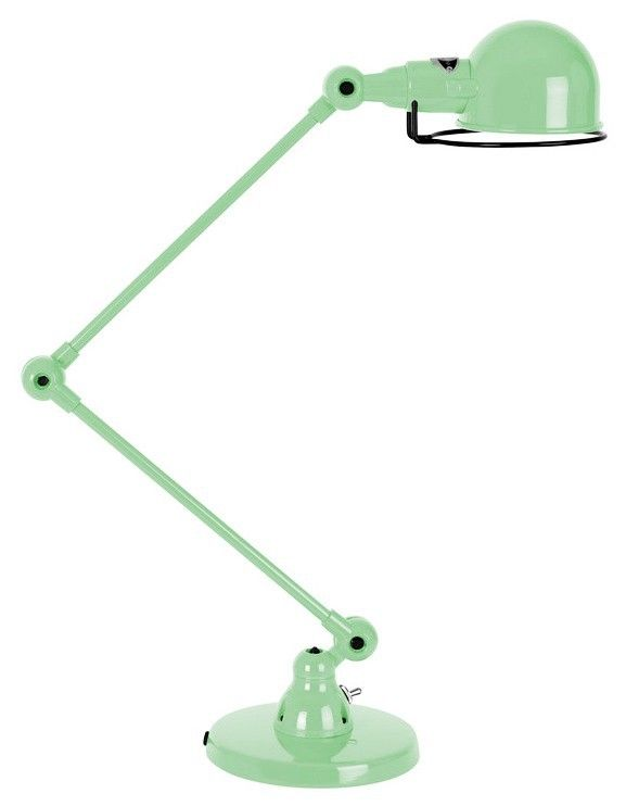 Lampe à poser 2 bras Signal SI333 Vert d'eau RAL 6019 - Jieldé