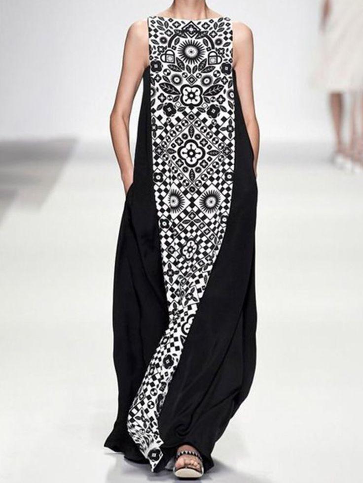 Justfashionnow Summer Dresses Vintage Dresses Casual Shift Boho Printed/dyed Dre…