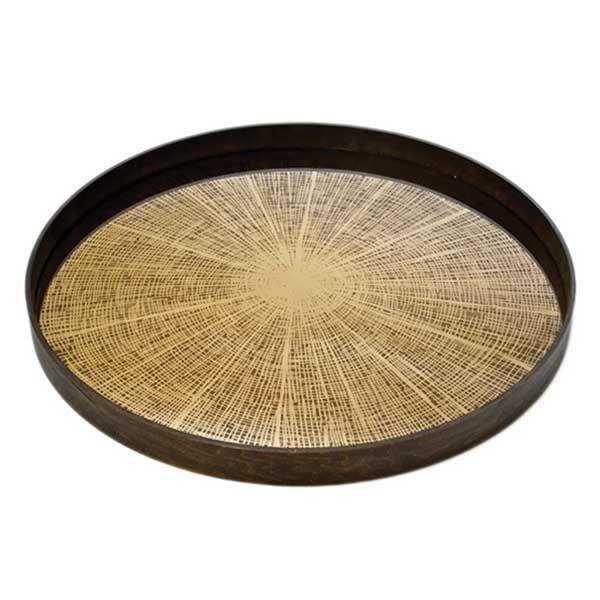 Notre Monde   Bronze Slice - 20407 - Mirror - wooden rim