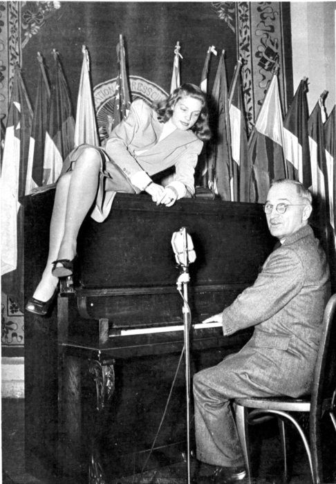 President Harry Truman and Lauren Bacall 1940s