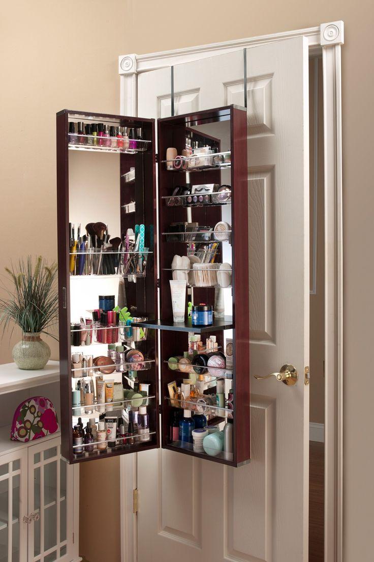 Over The Door 3 Tier Bathroom Towel Bar Rack Chrome W: Over-the-Door Cherry Beauty Organizer On @HauteLook