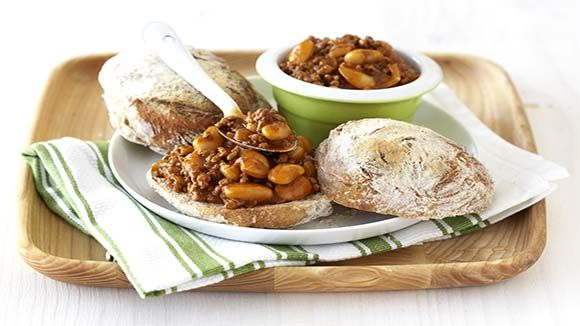 Sloppy Joes with Butter Beans and Parmesan