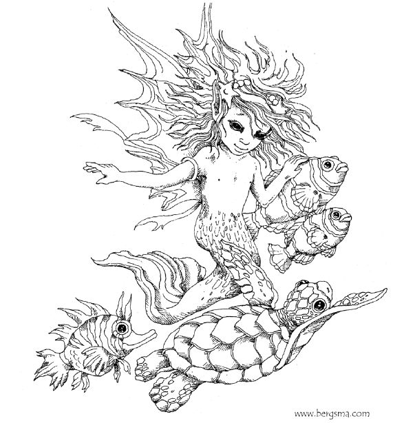 enchanted designs fairy mermaid blog free fairy mermaid coloring pages by jody bergsma - Mermaid Coloring Pages Adults