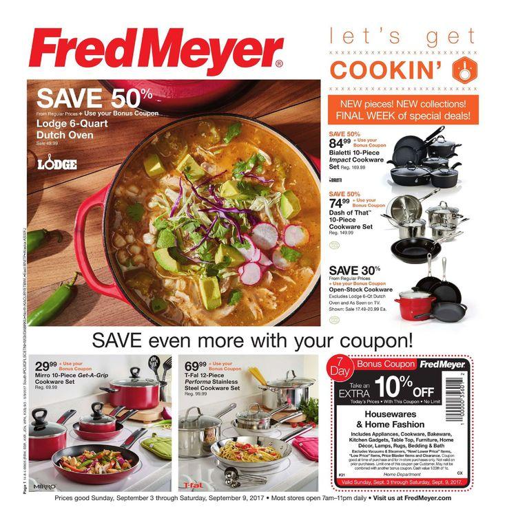 Fred Meyer Merchandise Ad September 3 - 9 , 2017 - http://www.olcatalog.com/grocery/fred-meyer-sales.html