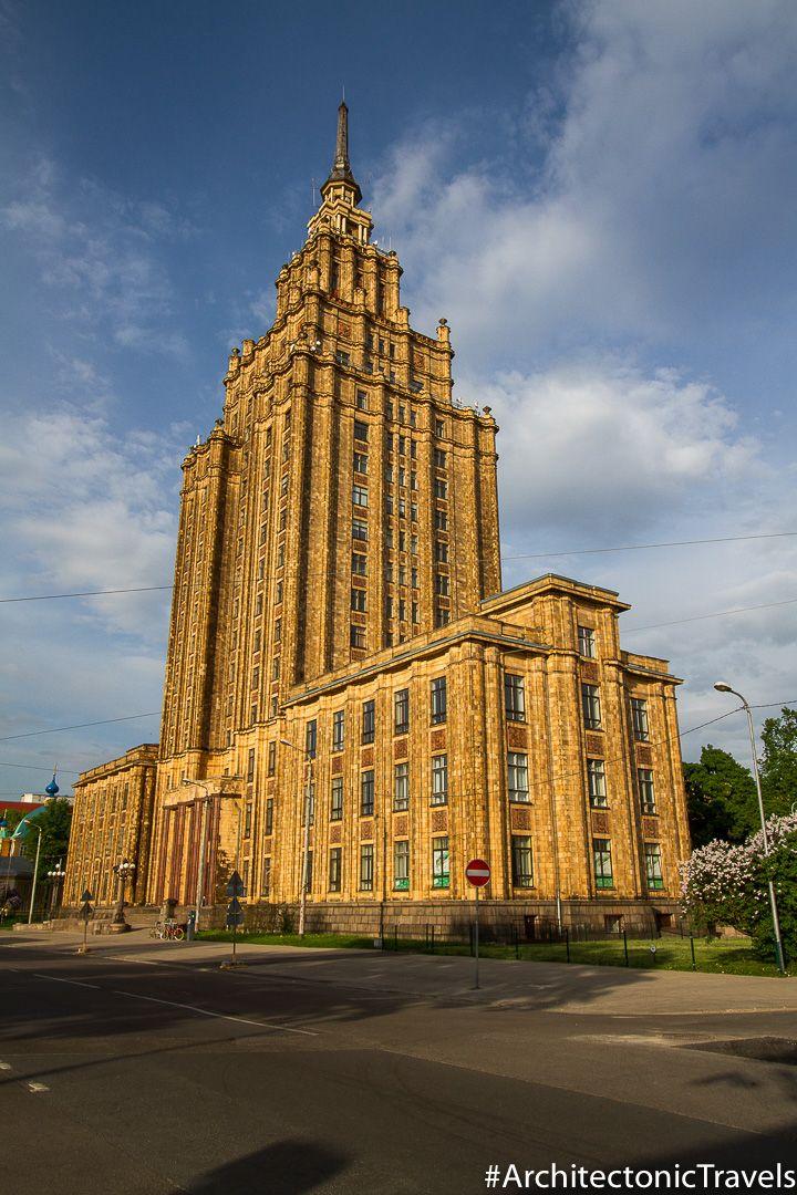 Latvian Academy Of Sciences In Riga Latvia Architectonic Stalinist Architecture Academy Of Sciences Brutalist Architecture