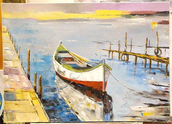 Pintura a óleo realizada pela Olga Branco no nosso atelier!