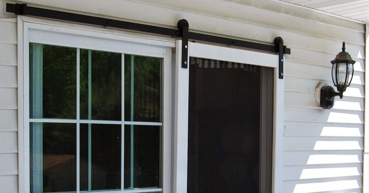 1000 ideas about sliding screen doors on pinterest for Barn door screen door