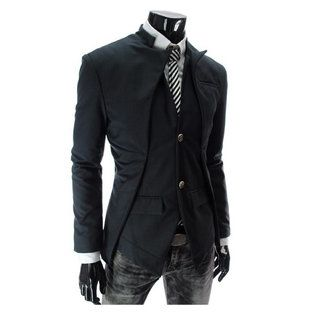 Mens Casual Slim Fit Asymmetric Suits Trench Coats - US$28.99 sold out
