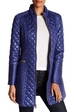 Diamond-Quilted Jacket