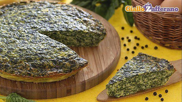 Frittata al forno con ricotta e spinaci