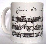 Ceramic Novelty Coffee, Tea Mug. Johann Sebastian Bach's Manuscript Of Brandenburg Concerto 6 Music Score Autograph. Ideal Gift For men, Women, Professional Musicians, Teachers, Students, Viola, Violin Players, 3.66
