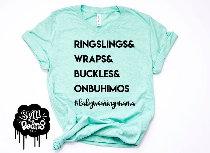 Babywearing Mom Life Prism Color T-Shirt