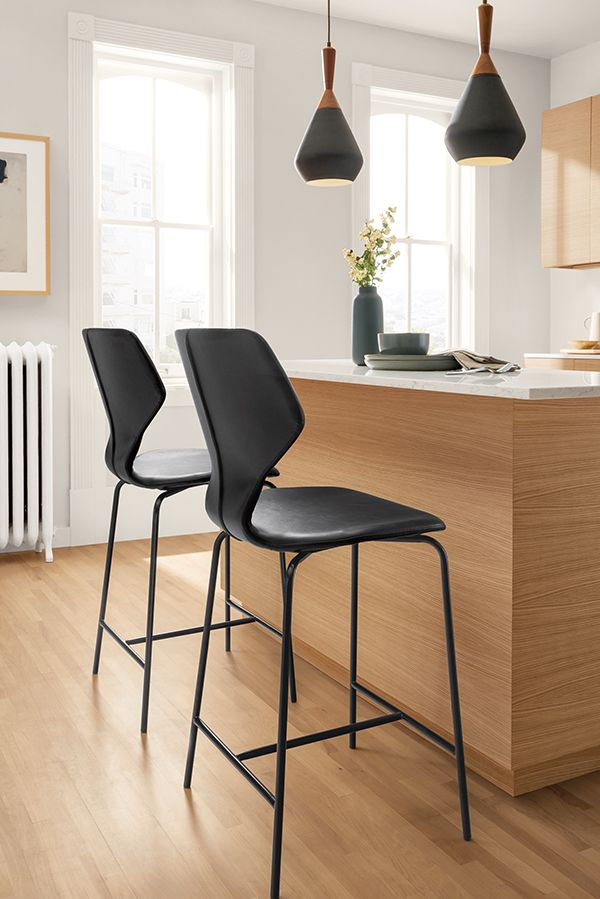 Pike Synthetic Leather Stools Modern Counter Bar Stools