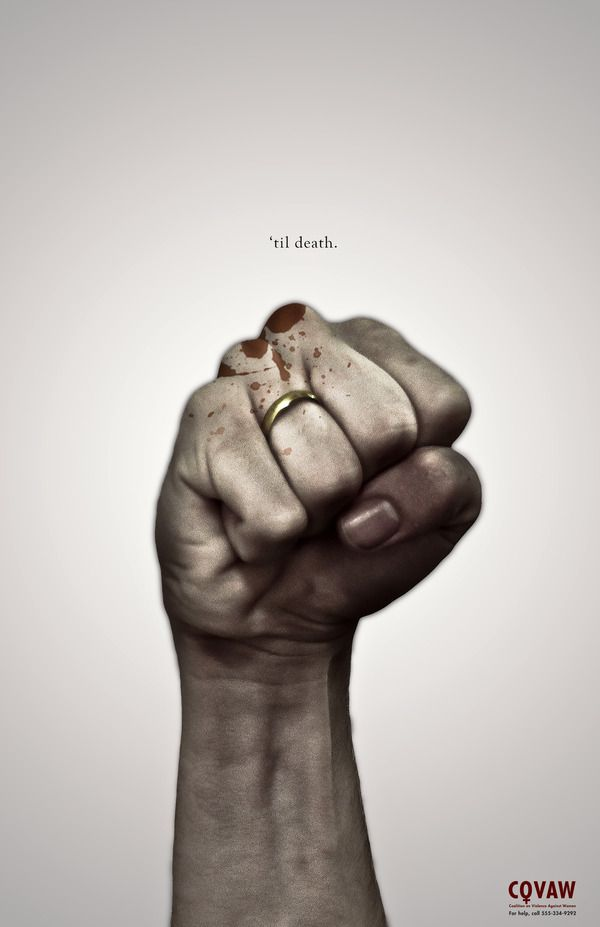 Domestic Violence by Brett Pollack, via Behance. Wow very powerful