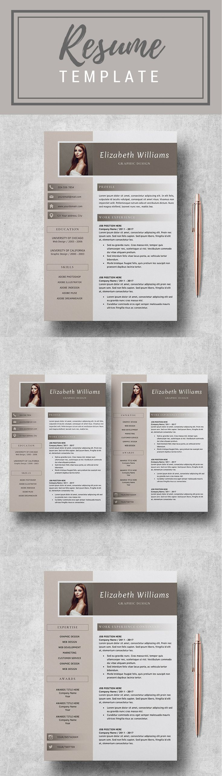 Resume Template CV Template for MS