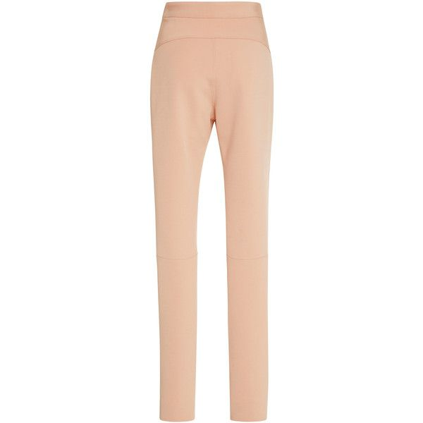 Jonathan Simkhai     Bodycon Elastania Skin Fit Pants (13 005 UAH) ❤ liked on Polyvore featuring pants, high rise pants, jonathan simkhai, high waisted cigarette trousers, bodycon pants and red high waisted pants