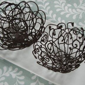 Make your own Lacy Chocolate Dessert Bowls. So elegant!
