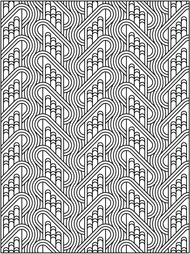 Creative Colouring Patterns : Creative haven tessellation patterns coloring book dover