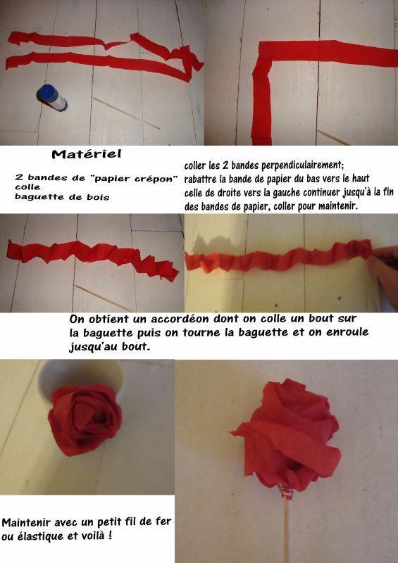 17 meilleures id es propos de roses en papier cr pon sur - Comment faire une rose en papier facile ...