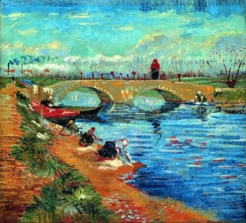 Vincent Van Gogh: Gleize Bridge with Washerwomen, March1888.Pola Art Museum, Japan via