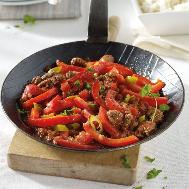 Paprika-Hack-Pfanne Rezepte | Weight Watchers