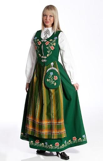 Green Bunad from Nordland, Norway