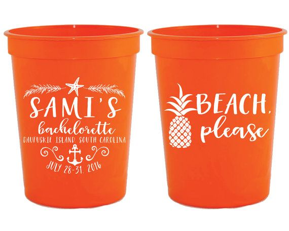 Bachelorette Party Cups Pineapple Cups Beach Please Custom Cups Tropical Bachelorette Bachelorette Favors Beach Bachelorette Cup 1533 by SipHipHooray