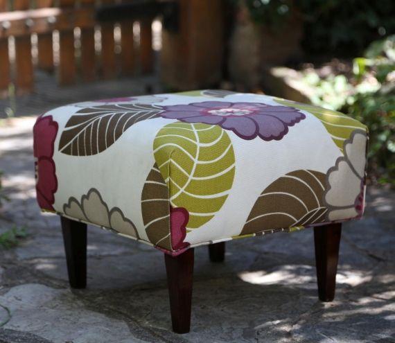 Banqueta floreada - Vintage y Reciclado - Muebles - 394520