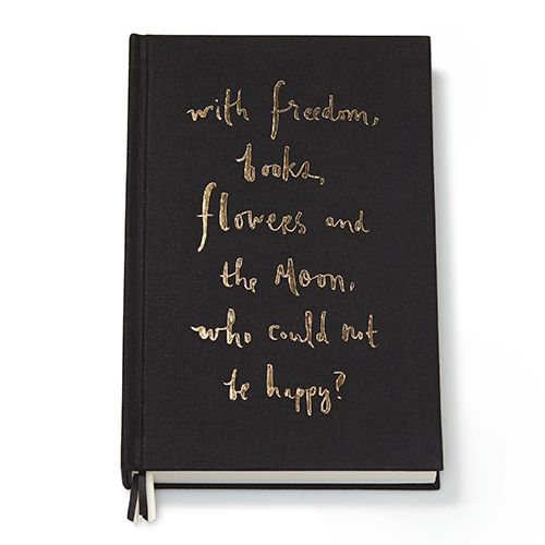 """With freedom, books, flowers and the moon, who could not be happy?"""" We couldn't agree more with the script on this beautiful journal from Kate Spade New York®. Featuring smooth lined pages and an eleg"""