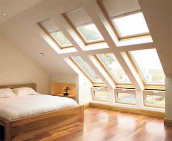 Multiple Velux windows to maintain structural rigidity