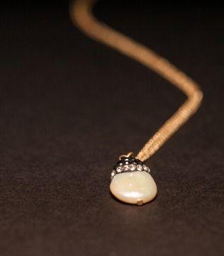 Delicate Pearl Pendant in Gold Chain