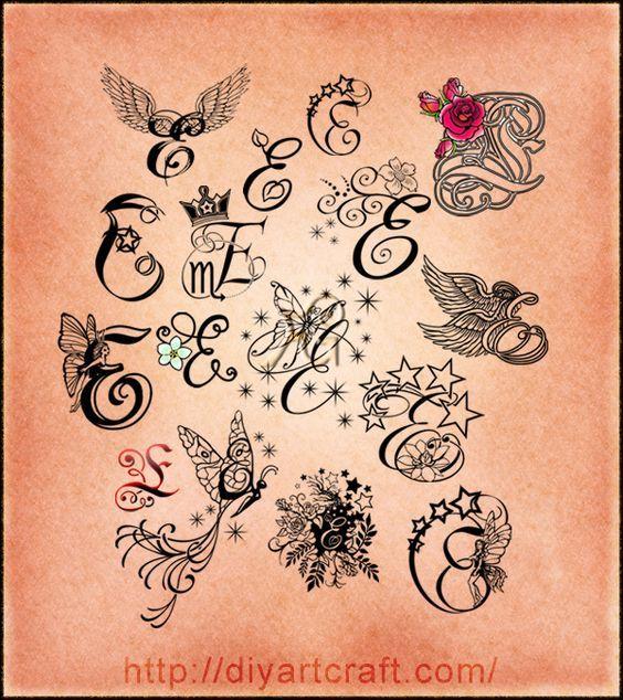 Bildergebnis Für Letter E Designs Tattoo