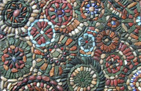 "Pebble Mosaic - ""Kaliedoscope"""