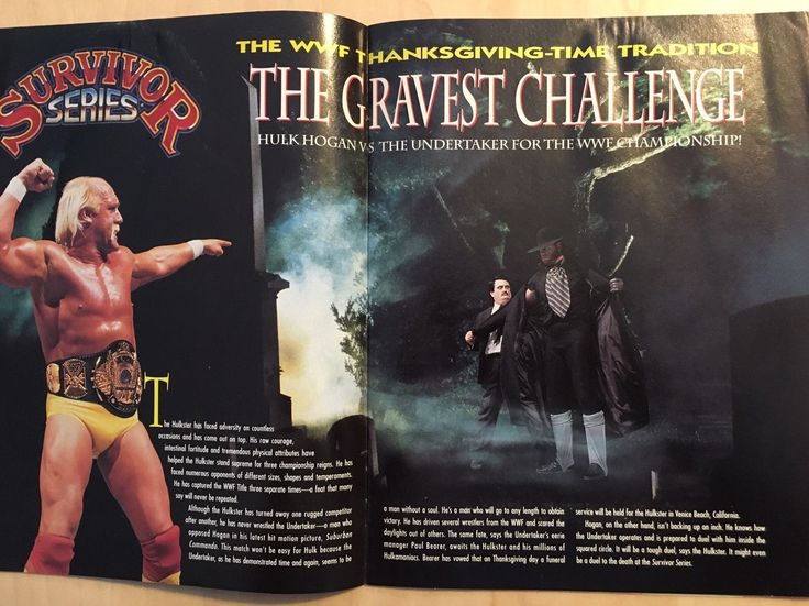 WWE WWF Survivor Series 1991 91 Program - Official Arena Edition - Magazine 3