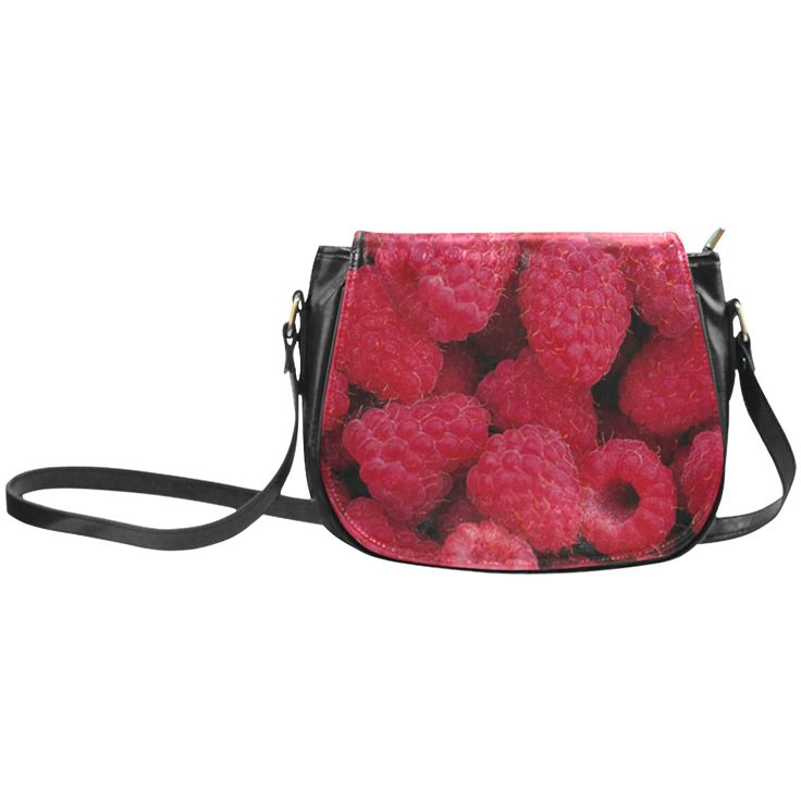 Raspberries Classic Saddle Bag/Large. FREE Shipping. #artsadd #bags #fruits