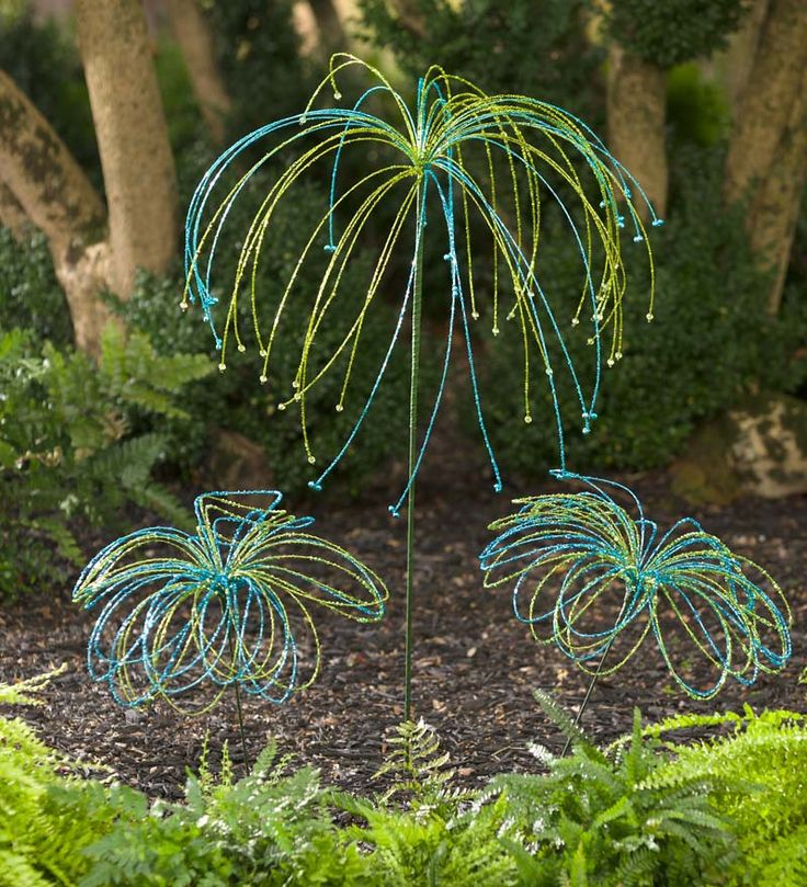 Beaded Glass Garden Stake | Garden Art | Plow