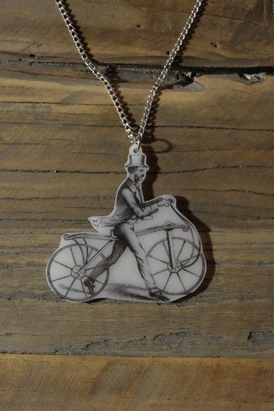 """This handmade steampunk pendant is inspired by the vintage illustration """"The Dandy Horse"""". #handmade #diy #jewellery #jewelry #vintage #etsy #statementnecklace #steampunk"""