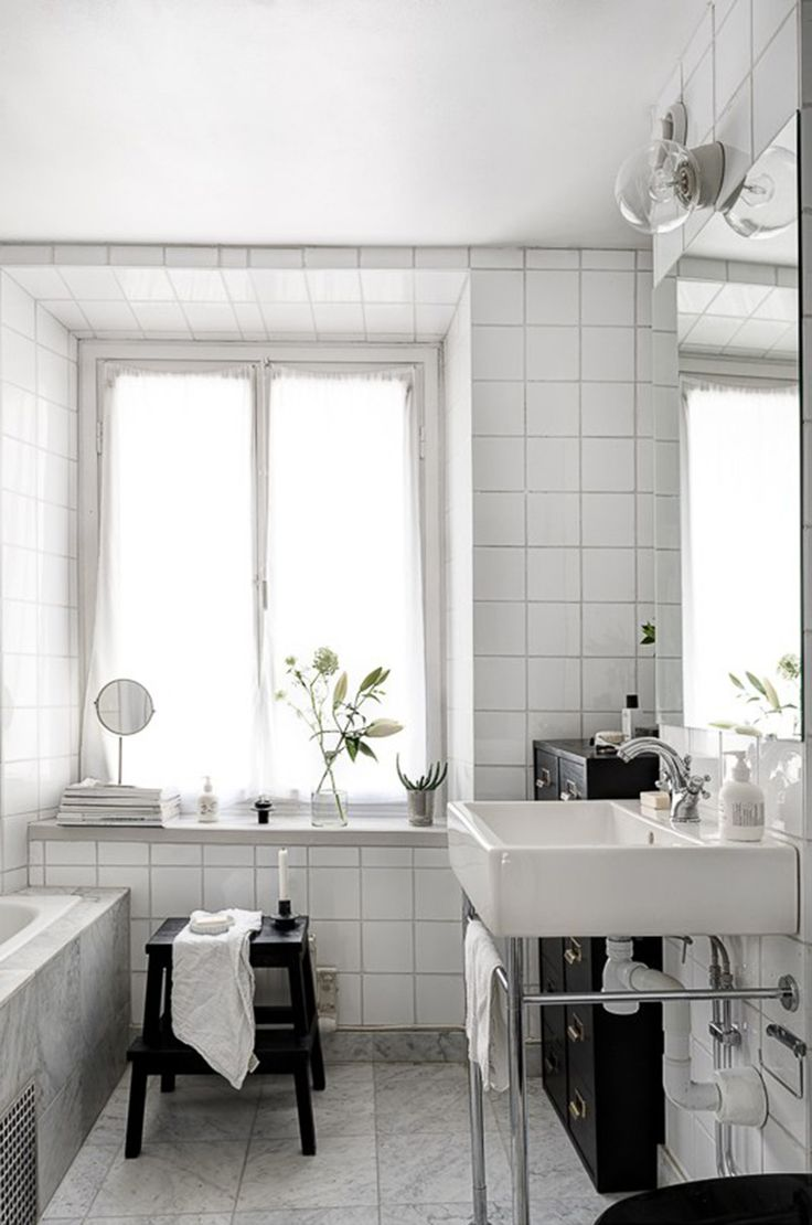 Bathroom, white, tile / Dream Apartment / Only Deco Love