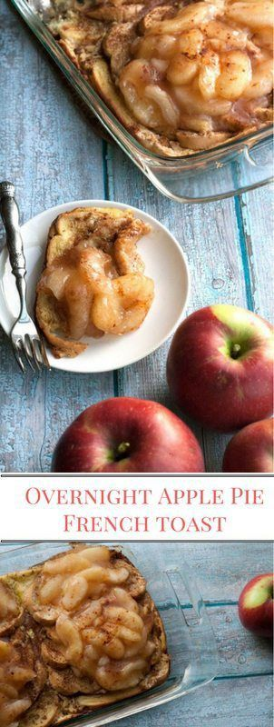 Easy to make Overnight Apple Pie French Toast Bake is a breakfast recipe you will make again and again. Perfect breakfast recipe for busy mornings.