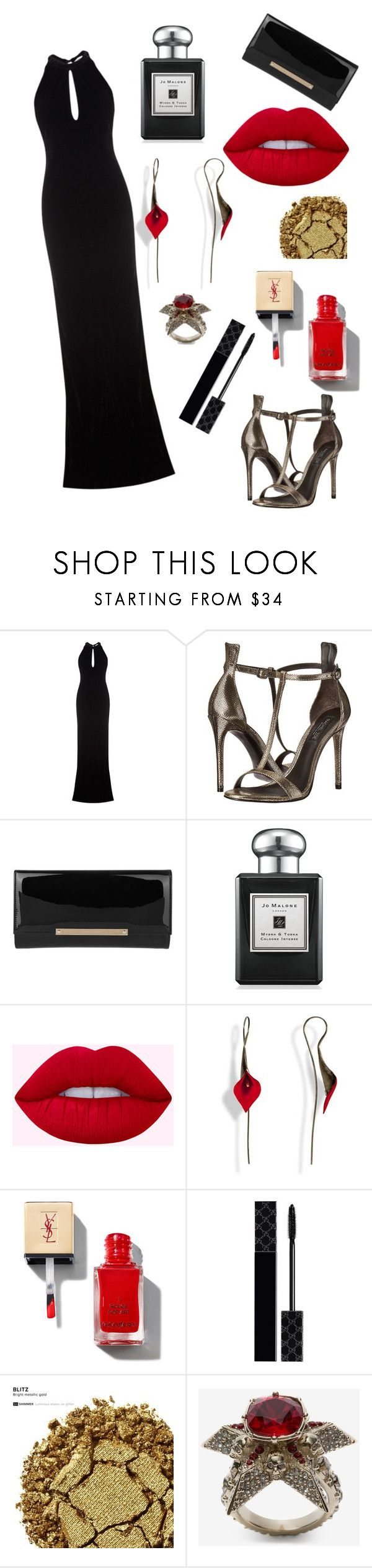 """""""Night Out"""" by annabellalovesfashion ❤ liked on Polyvore featuring Ghost, Rachel Zoe, Jimmy Choo, Jo Malone, Gucci, Urban Decay and Alexander McQueen"""