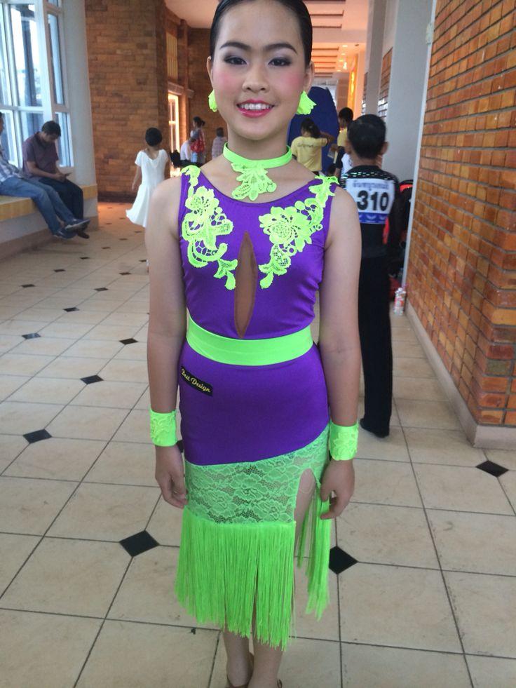 Latin  dress junior l By Pakaorn Kuituan ( Best Design Dancewear )