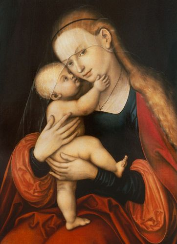 . Lucas Cranach the Elder - Madonna with child (Passauer picture with miraculous powers) ...