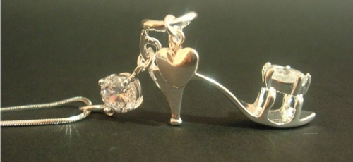 ♥♥ WHO LOVES HIGH HEEL SHOES?! ♥♥  We saw these and couldn't resist them for Christmas for our Customers!   Full necklace, High Heel Pendant including Chain,  Sterling Silver with 2 Zircon and heart charm on the ankle.   http://www.intimatewhispers.com.au