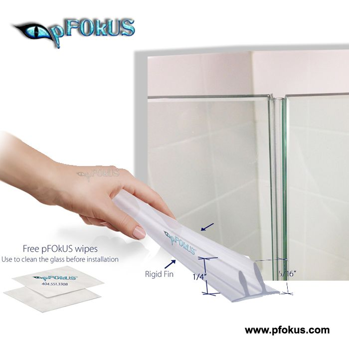 Frameless Shower Door Seals Pfokus Frameless Shower Doors Shower Doors Glass Shower Doors